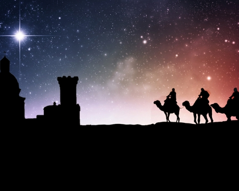 Three wise men following the star to Jesus.; Shutterstock ID 113729521; PO: The Huffington Post; Job: The Huffington Post; Client: The Huffington Post; Other: The Huffington Post