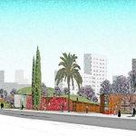 Render del Parc de les Casernes. Exclusiva L'Exprés de Sant Andreu 1