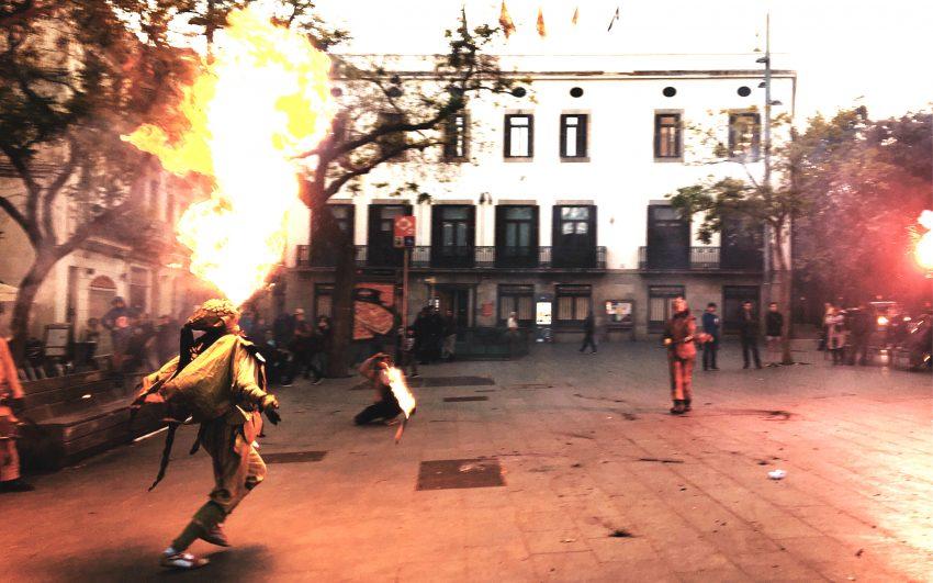 Espectacle dels Diables de Sant Andreu a la plaça d'Orfila David Garcia Mateu
