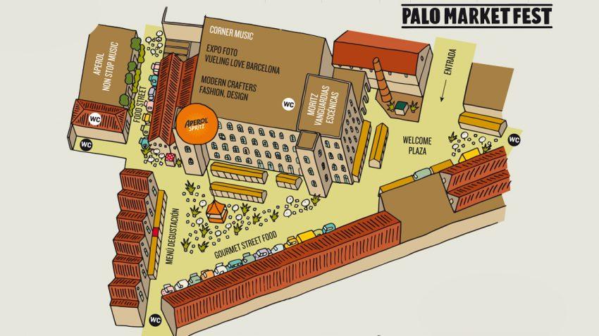 Plànol de la Fabra & Coats / Palo Alto Market Fest