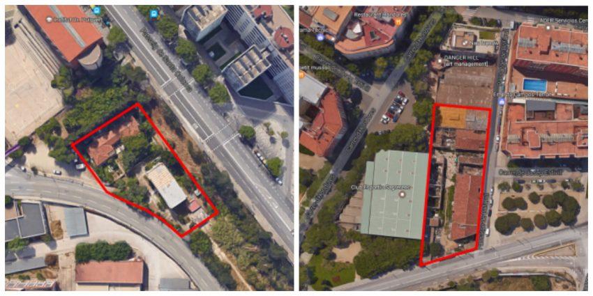 Sectors a reurbanitzar: l'esquerra, el sector de Colorantes; a la dreta, el de la Sagrera / AJUNTAMENT DE BARCELONA