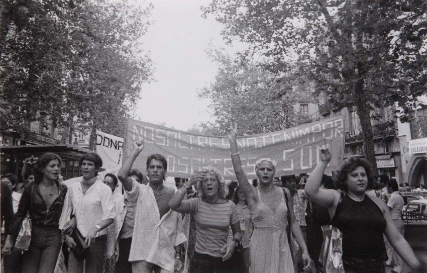 Primera manifestació LGTBI a la ciutat de Barcelona / Colita (Isabel Steva Hernández)