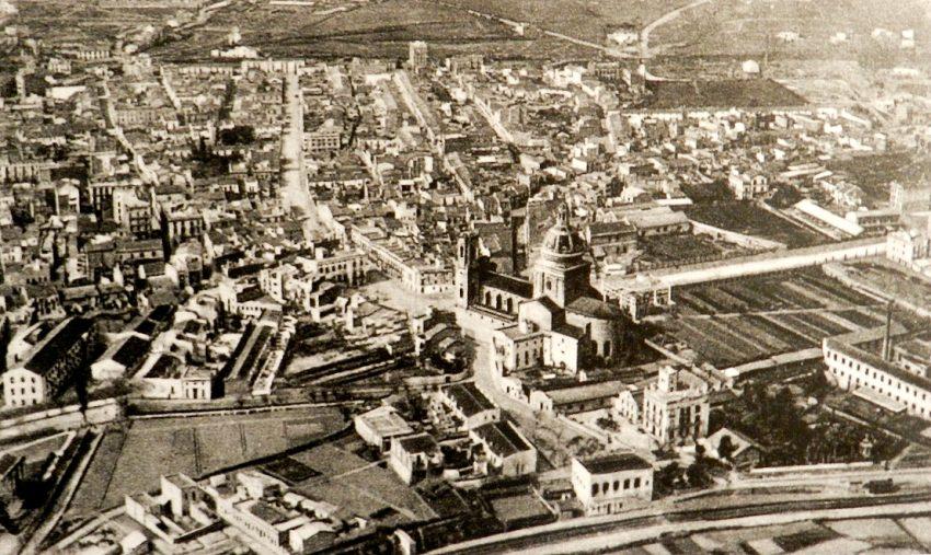 Panorámica de Sant Andreu als anys 30 / Font llibre Sant Andreu de Palomar i la Sagrera. Xavier De la Cruz Sala