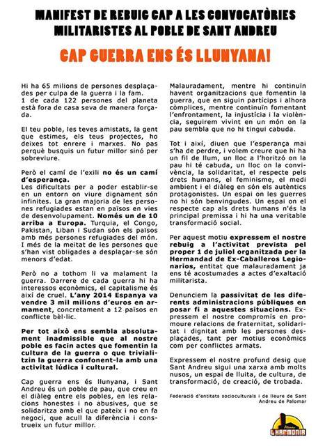Manifest de l'Ateneu de l'Harmonia / ARXIU