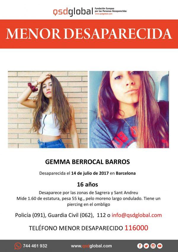 Cartell Gemma Berrocal desapareguda