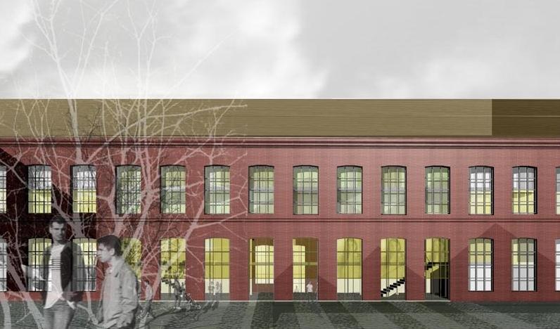 Recreació virtual de com quedarà l'edifici d'habitatge públic de la Fabra i Coats / PMH