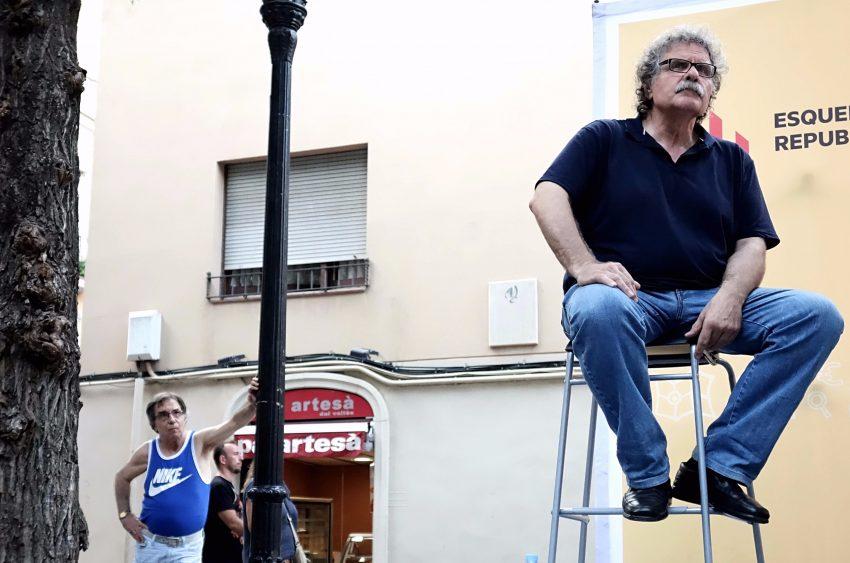 Joan Tardà a la plaça del Comerç de Sant Andreu / DGM