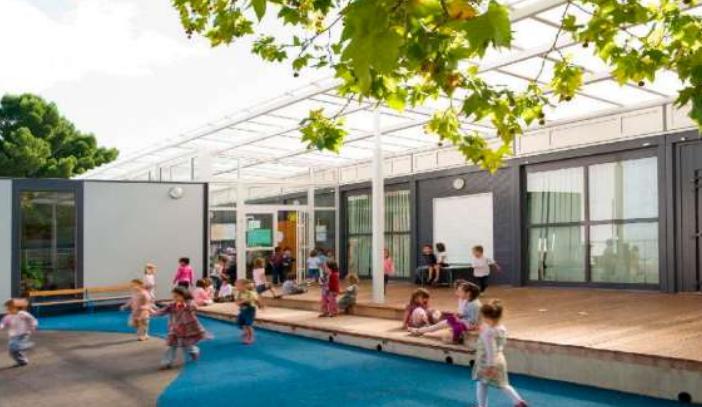 Recreació virtual dels futurs mòduls prefabricats del carrer de Fernando Pessoa / ARXIU