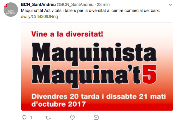 Tuit de l'Ajuntament La Maquinista