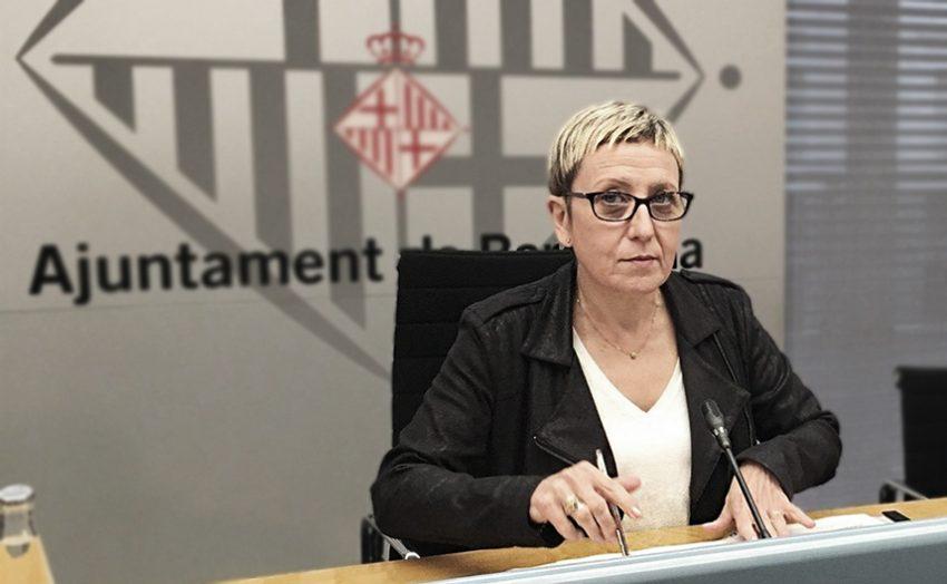 La regidora de Sant Andreu, Carmen Andrés, es va negar a signar la declaració institucional / ARXIU