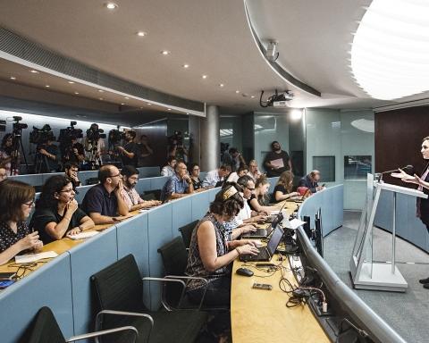 L'alcaldessa Ada Colau, en roda de premsa / AJUNTAMENT DE BARCELONA