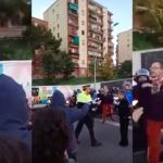 Conductors increpen als manifestants que tallen la Meridiana / CDR