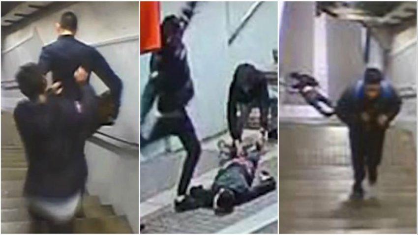 Les càmeres de seguretat del metre van gravar la brutal pallissa a Navas / MOSSOS D'ESQUADRA