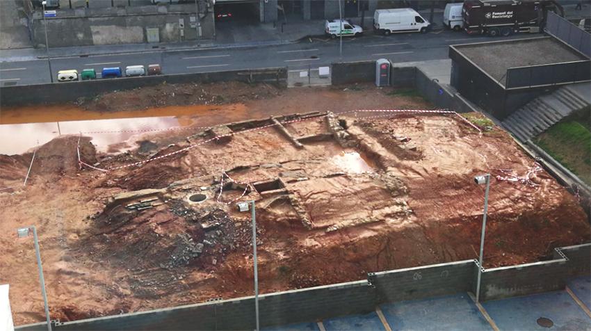 Vista de les troballes a les obres de la carretera de Ribes / KAREN ROMAN, cedida pel CEII