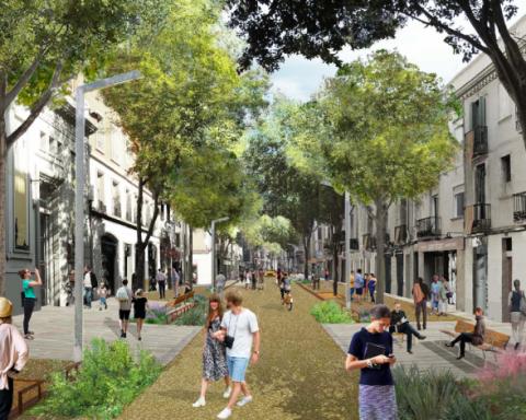 Fotografia | Recreació virtual de com quedarà la reforma del carrer Gran de Sant Andreu / BIMSA
