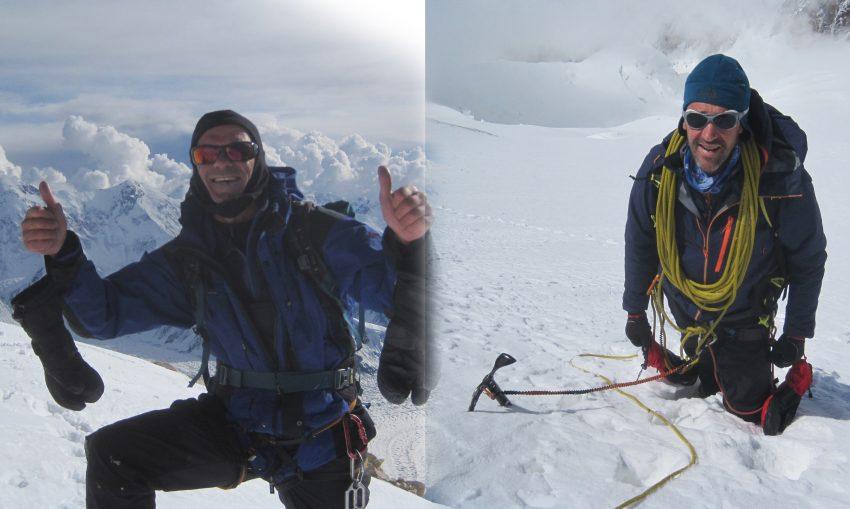 En Josep Escruela i en Marc Urquizu, en l'ascensió a un cim / ARXIU