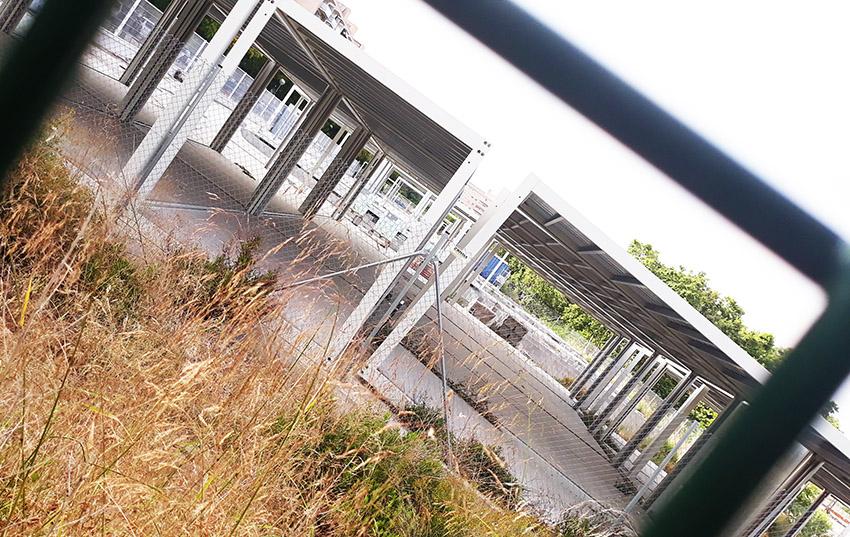 Els futurs barracons de l'Escola La Maquinista, a mig fer / DGMEls futurs barracons de l'Escola La Maquinista, a mig fer / DGM
