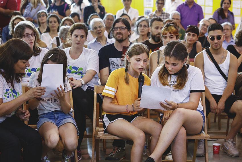 Alumnes de l'Escola Can Fabra demanen més zones verdes / AJUNTAMENT DE BARCELONA