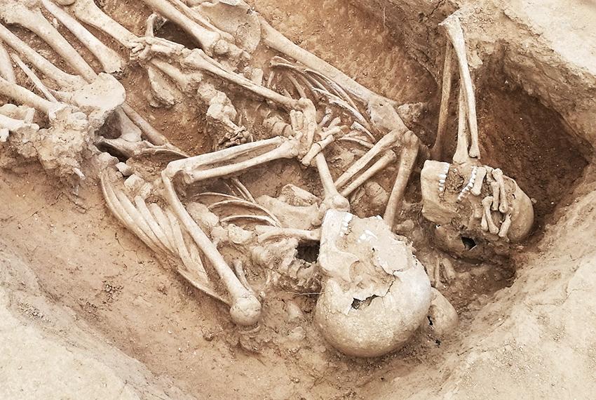 Restes de soldats de Felip IV a la Sagrera / DÍDAC PÀMIES - ANTEQUEM
