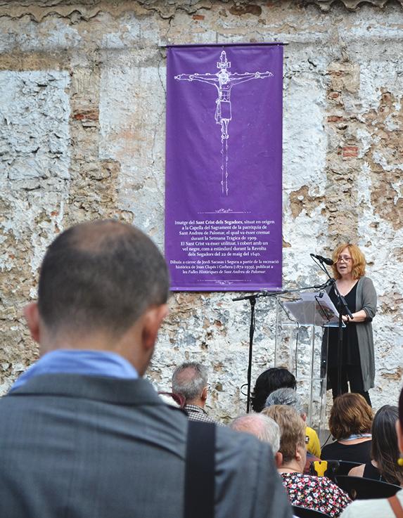L'actriu Carme Abril llegeix la carta d'Oriol Junqueras / DGM