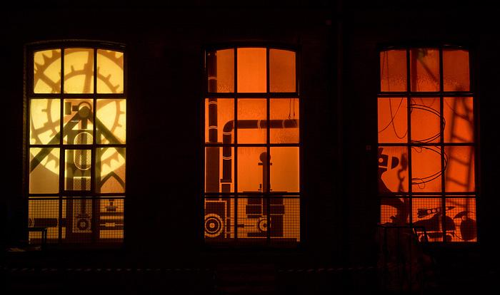 Detall dels finestrals de la Fàbrica de Creació / ARXIU