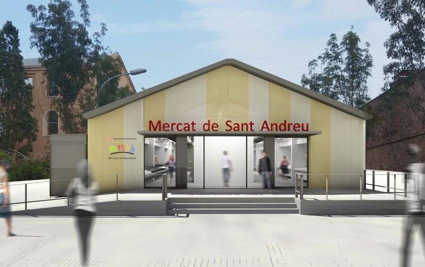 Carpa provisional del Mercat de Sant Andreu / IMMB