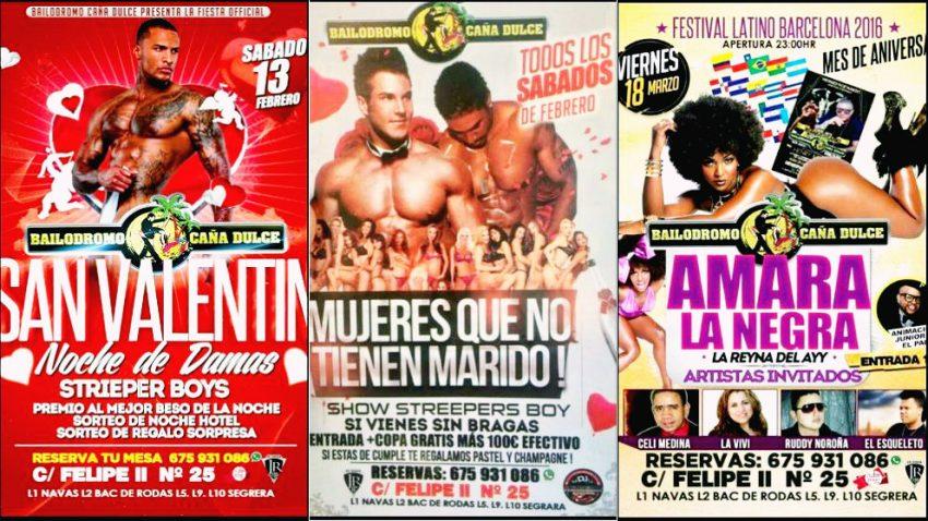Cartells de la Discoteca Bailódromo Cañita Dulce