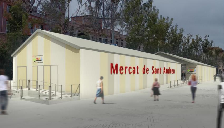 Carpa provisional del Mercat de Sant Andreu / AJUNTAMENT DE BARCELONA