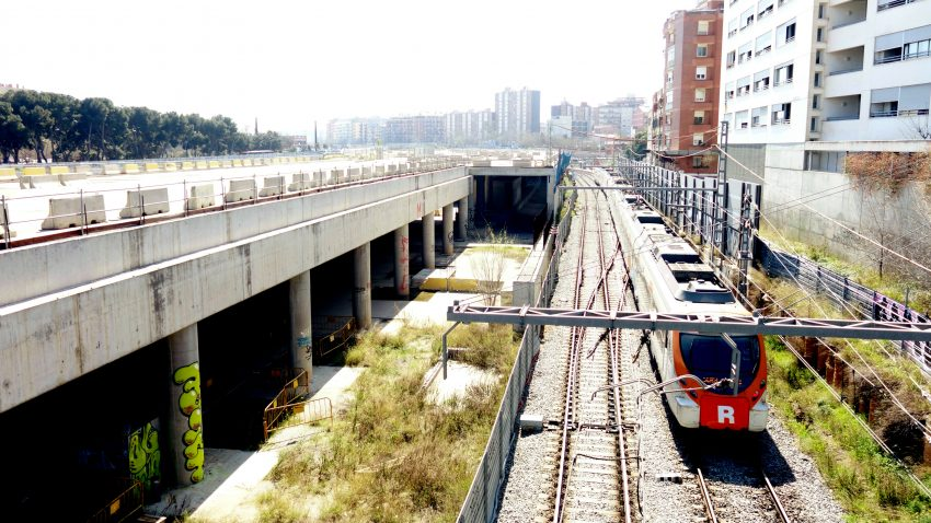 Les obres del Parc Lineal al seu pas per Sant Andreu / DGM