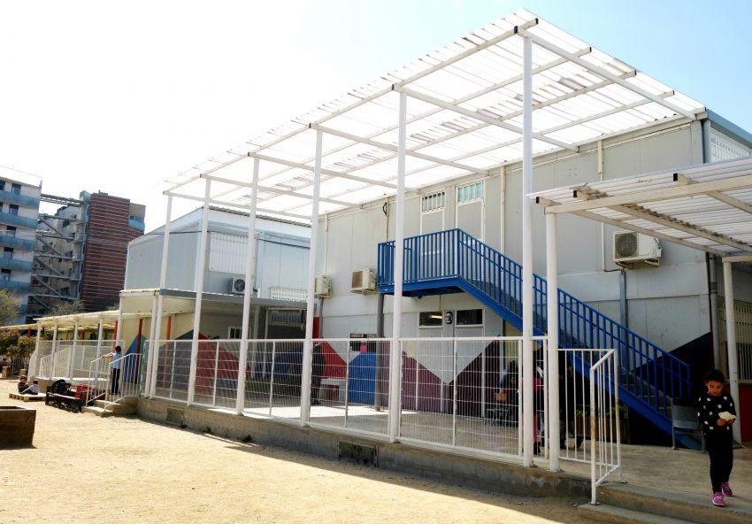 Actual edifici prefabricat de l'Escola La Maquinista / DGM
