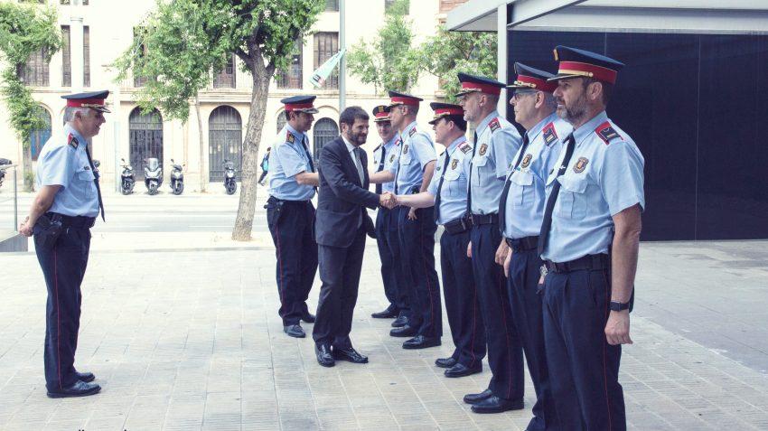 Mossos d'Esquadra a l'acte del cos en la comissaria de Sant Andreu / MOSSOS D'ESQUADRA