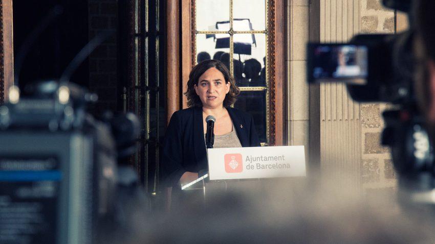 L'Alcaldessa de Barcelona, Ada Colau, en roda de premsa / AJUNTAMENT DE BCN