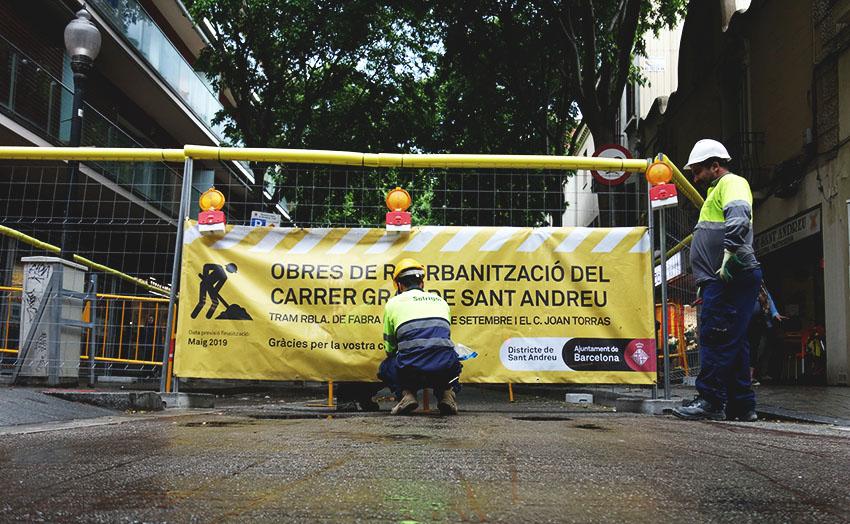 Obres al carrer Gran de Sant Andreu / DGM
